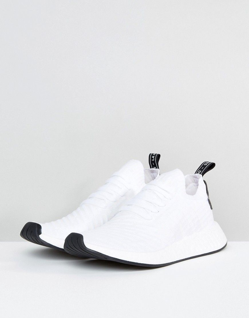 79631ebb7382 adidas Originals NMD R2 Primeknit Sneakers In White BY3015 - Black