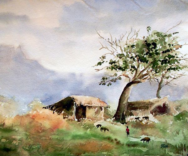 Indian Artist Jitendra Sule S Watercolour Paintings Highlands
