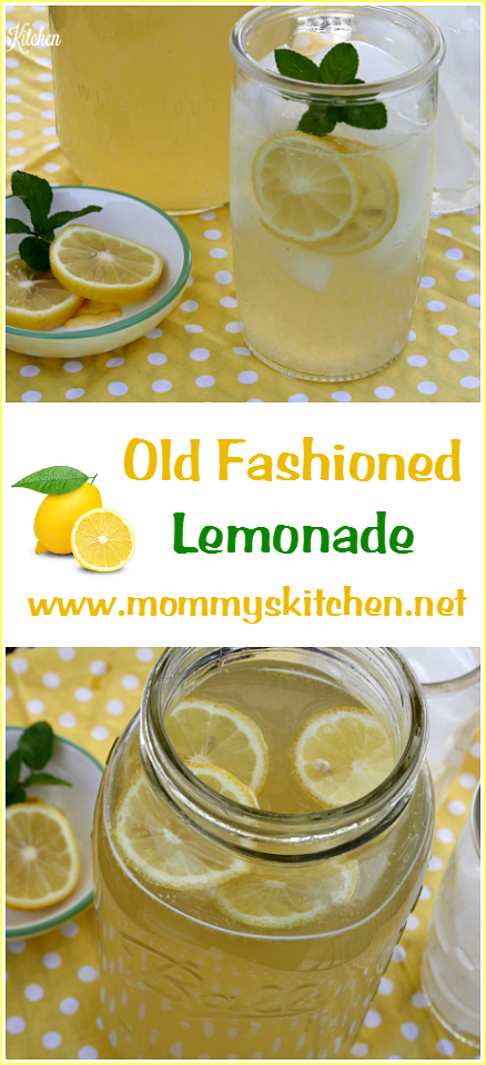 Mommy's Kitchen - Recipes From my Texas Kitchen: Old Fashioned Lemonade Recipe #easylemonaderecipe