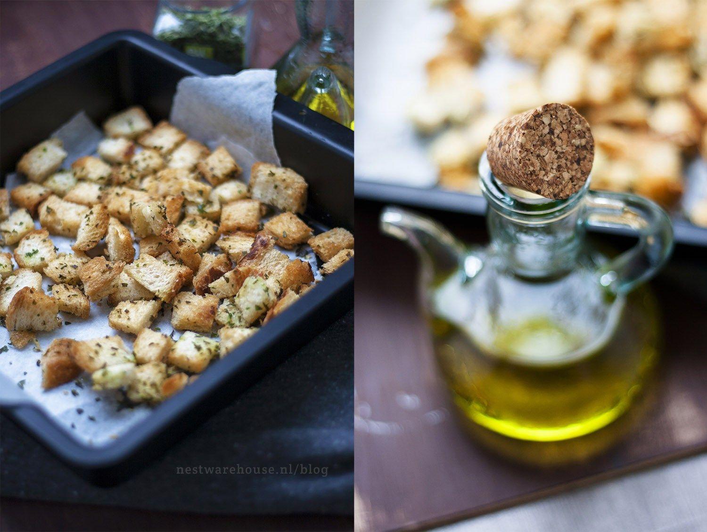 Croutons Maken Van Oud Brood Simpel En Lekker Voedsel Ideeen Eten En Drinken En Oud Brood Recepten