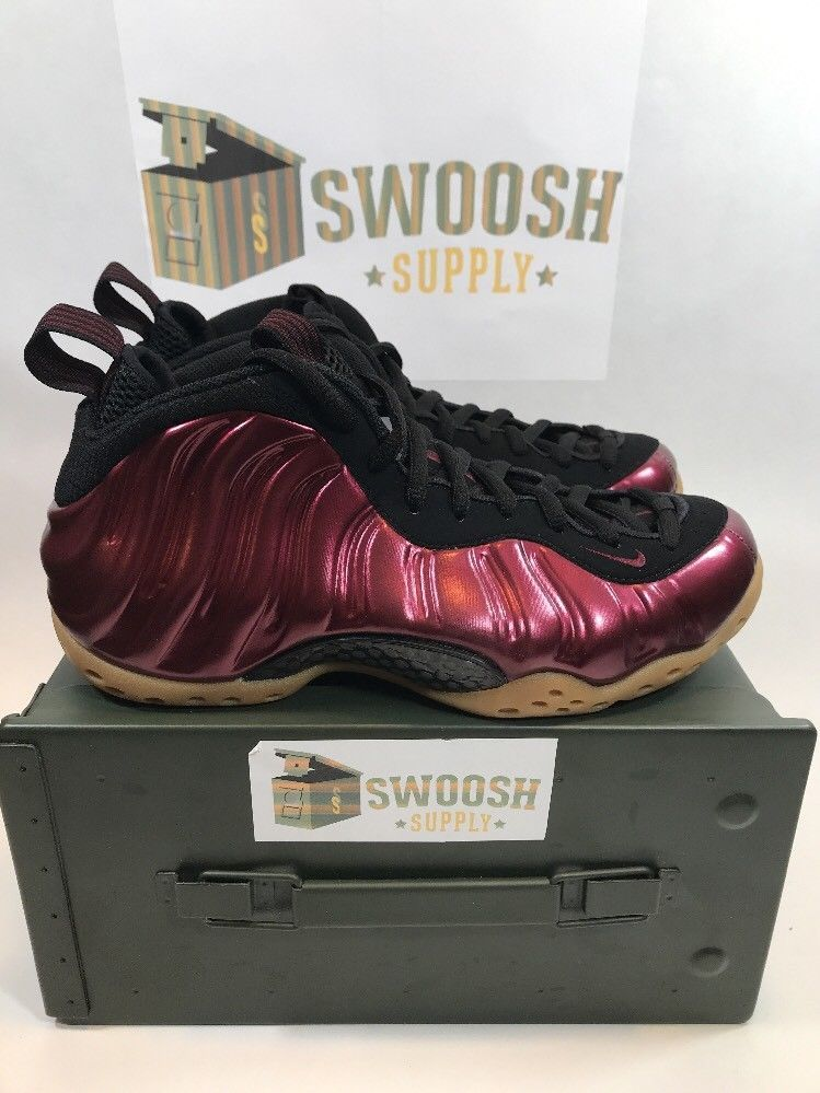 sports shoes b94a2 e6359 Nike Air Foamposite One Night Maroon Gum Black 314996-601 men s size 7.5   NikeAirFoampositeOne314996601  AthleticSneakers