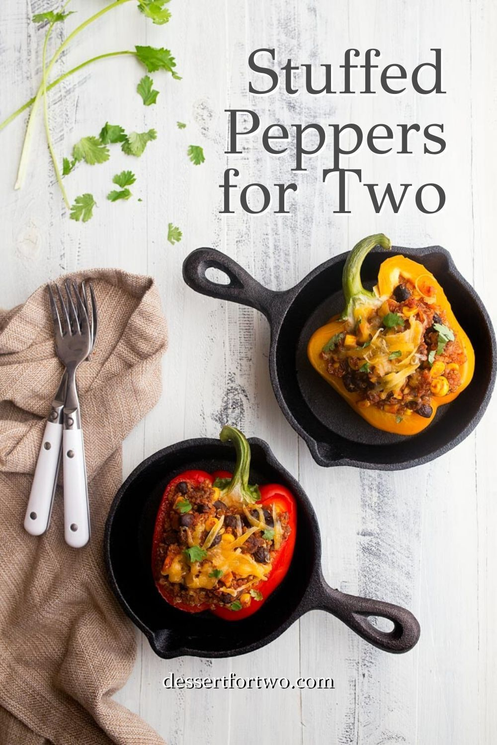 Southwestern Stuffed Peppers For Two Dinners For Two In 2020 Clean Eating Recipes For Dinner Stuffed Peppers Clean Eating Dinner