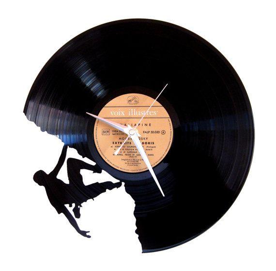 uhr vinyl 33 runden originelle und einzigartige sch pfung in frankreich zu hause gemacht aus. Black Bedroom Furniture Sets. Home Design Ideas