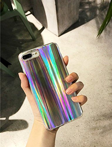 24699b14233 Amazon.com: iPhone 8 Plus / iPhone 7 Plus Case, Psychedelic Holographic  Sparkle
