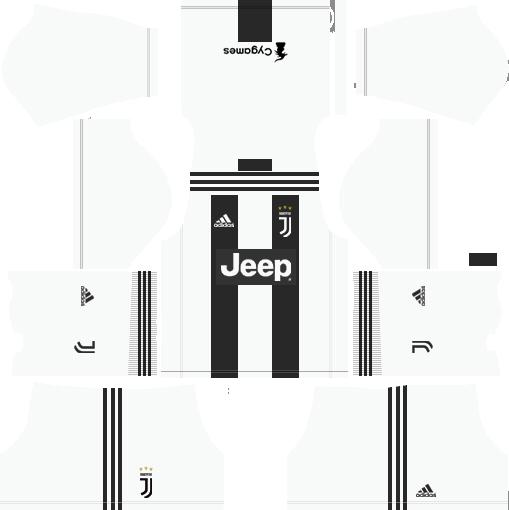 Juventus Home Kit Dream League Soccer Soccer Kits Juventus