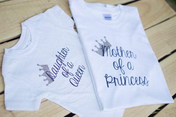 Matching Mommy Daughter Shirt  Princess Apparel  by SheenaCreates