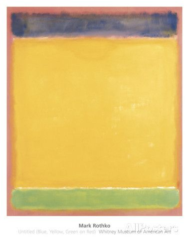 mark rothko untitled blue yellow green on red art print