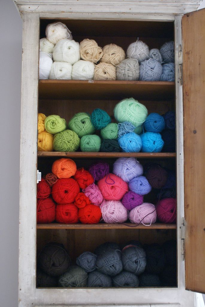 Wool Closet  by Ingrid Jansen on flickr. & wool storage | Storage ideas Crafts and Sewing rooms