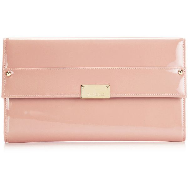 Jimmy Choo Reese Blush Patent Leather Wallet Clutch ($750 ...