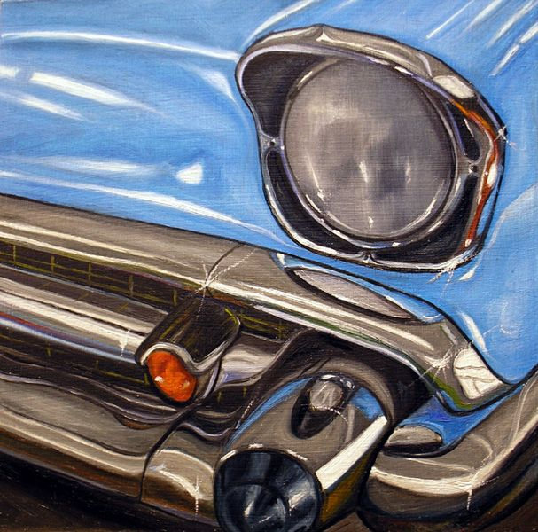 Vic Vicini Classic Cars Old Car Paintings Car Painting Automotive Artwork