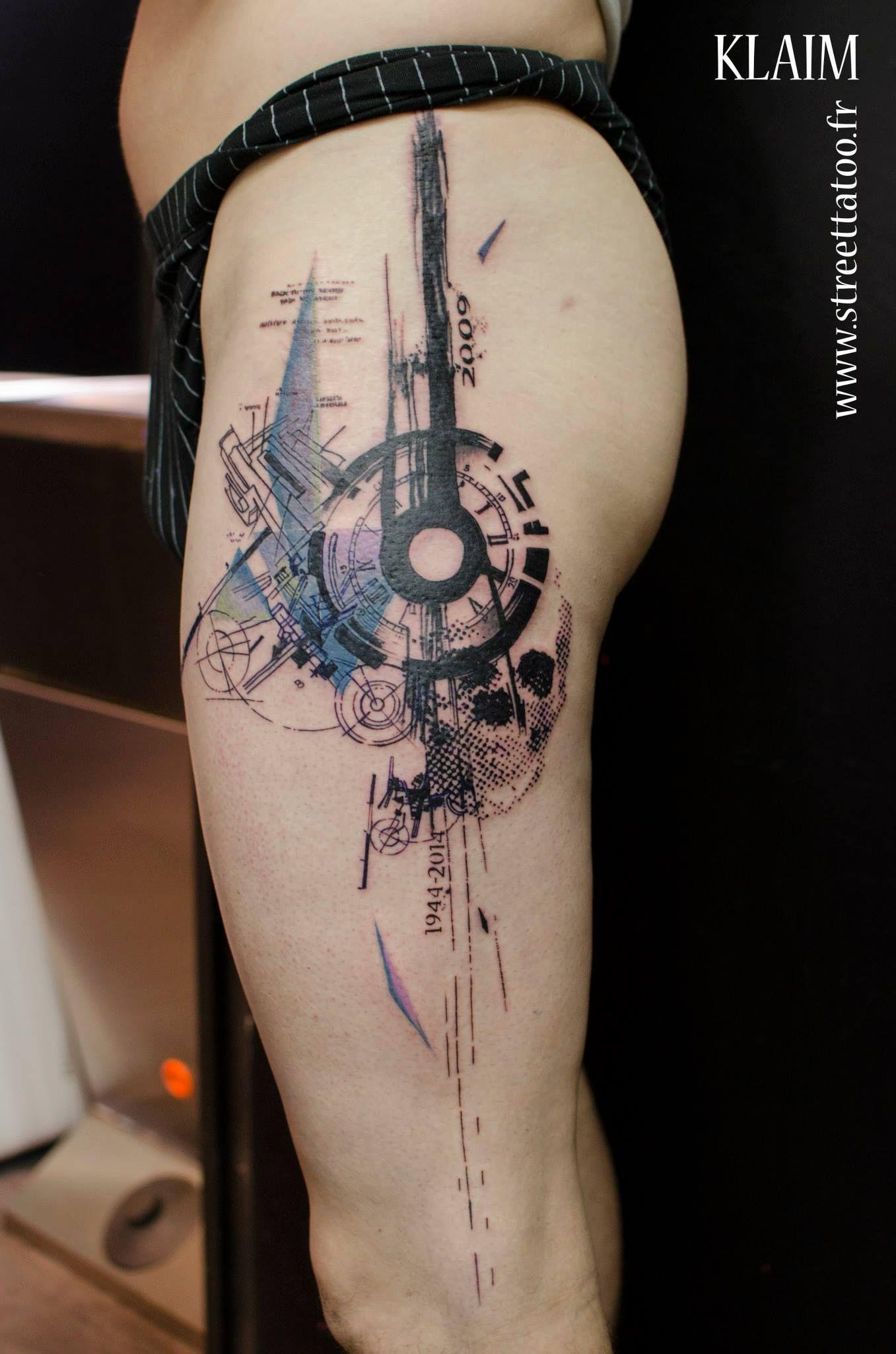 Geometric And Watercolor Tattoo Tattoo Designs Leg Tattoos