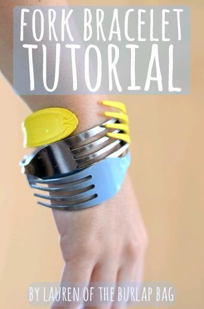 uncommon DIY: Fork bracelet tutorial | Fork bracelet ...