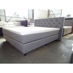 Photo of Box spring bed Stockholm 160x200cm, incl.topper, hardness 2 x H5, synthetic leather black