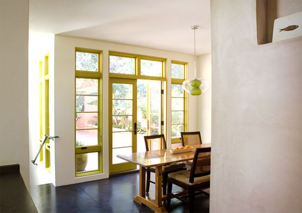 ADORE the chartreuse-painted interior window and door trim | .:what ...