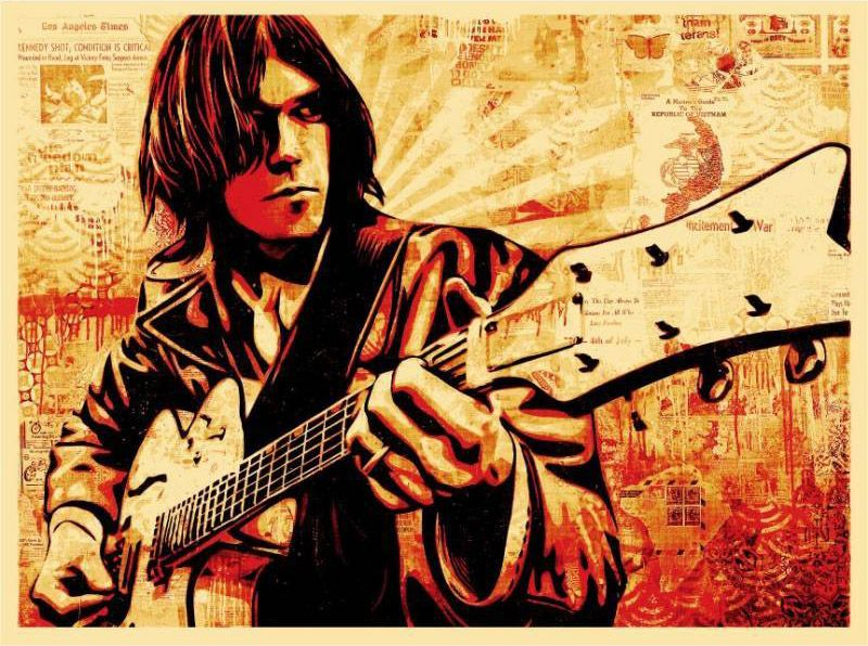 Obey \'Neil Young\' Canvas Print Release Details - PostersandPrints ...