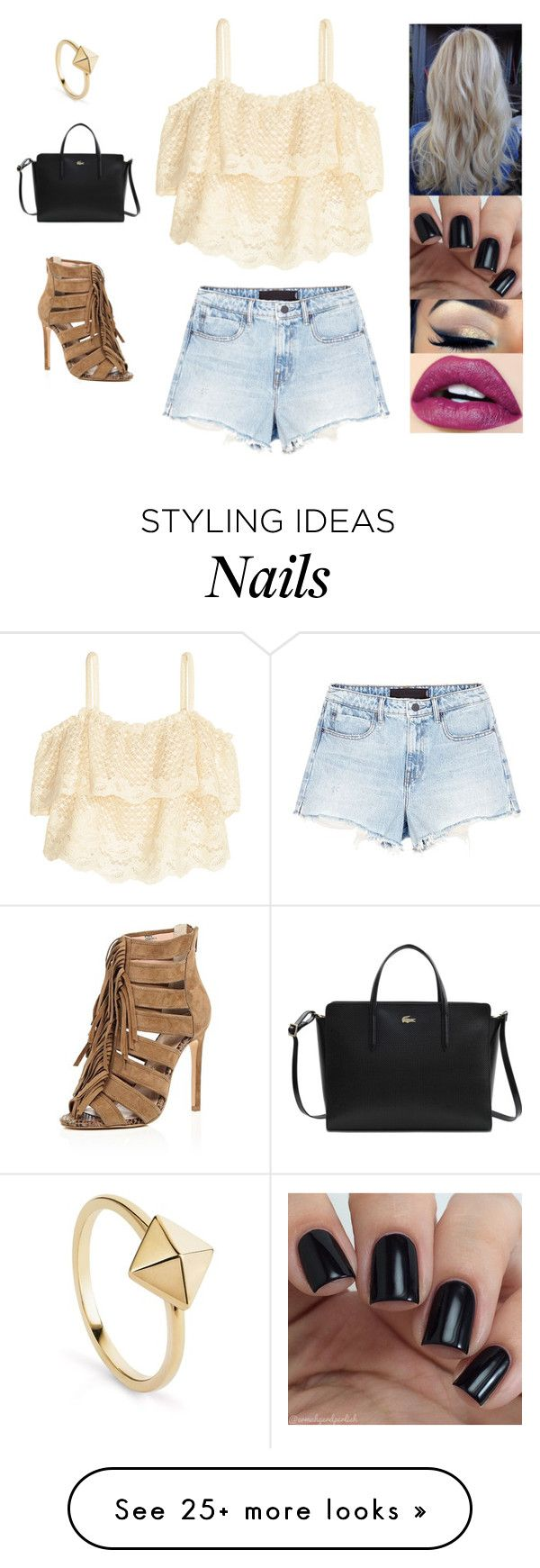 """Untitled #4057"" by sigalv on Polyvore featuring H&M, Alexander Wang, Lacoste and River Island"