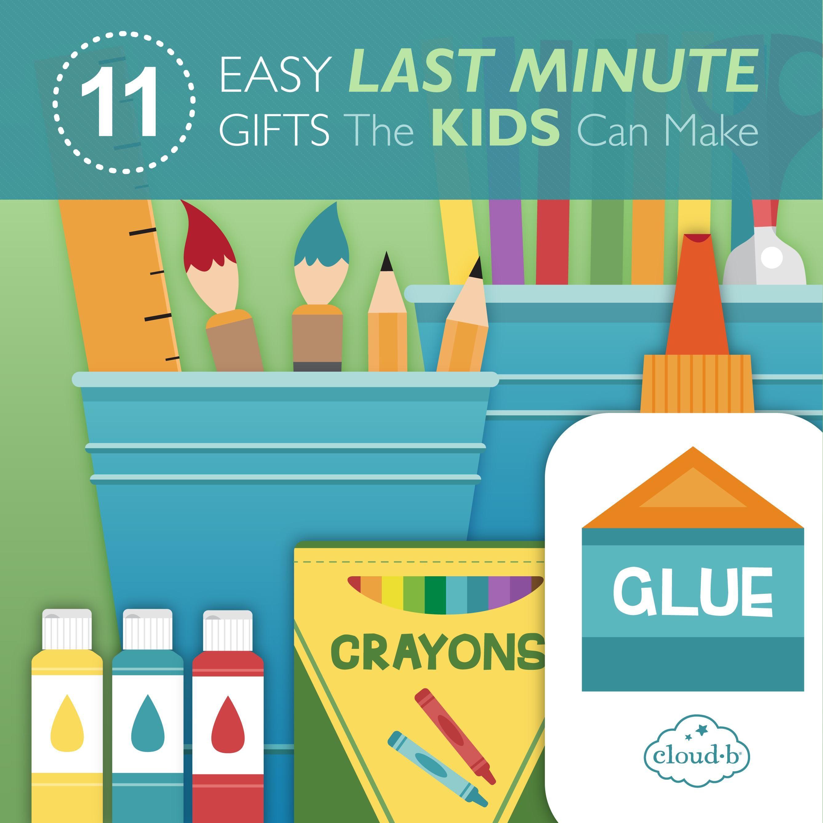 11 Easy Last Minute Gifts the Kids Can Make. 11 fine hjemmelavede julegaver eller fødselsdagsgaver, der er nemme for børnene. Nemme idéer!