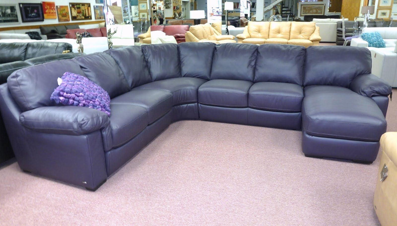 Navy Leather Sofa Leather Sectional Sofas Sectional Sofa With