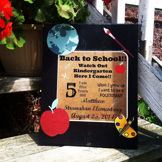 Custom made Back to School Memory Board by ForTheLoveOfTheChild, $21.00