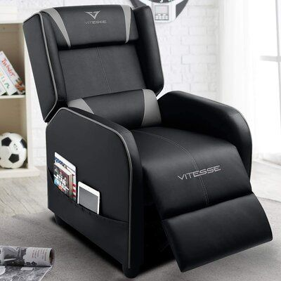 VITESSE <p></p><strong>Features:</strong><ul><li>A+ Service: Free replacement for quality problems within one year. Just contact the customer service, they will provide you a satisfactory after-sale plan.</li><li>Easy to Assemble & Adjustable: Most people could finish the assembly within 8 minutes. And just sit and push back to choose your favorite position.</li><li>Ergonomic Design: The recliner chair come with the soft headrest, lumbar support, and footrest. Adjust three kinds of shape form 90