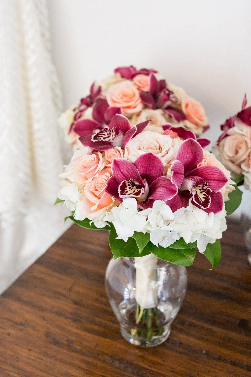 Peach and Plum Downtown Elegance Real Wedding at The