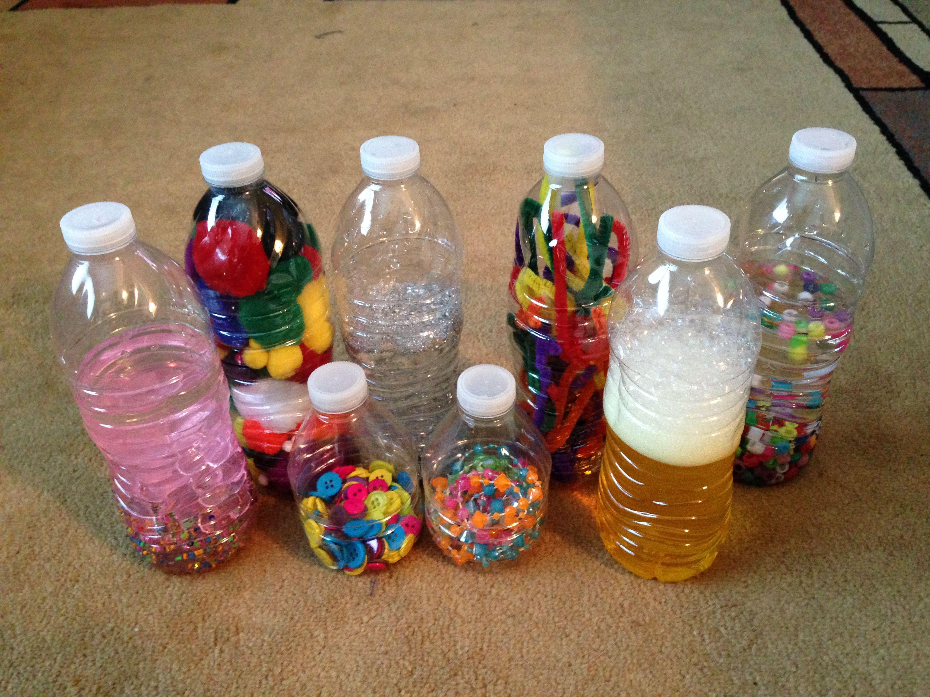 Sensory bottle and treasure basket ideas Shari at TFC