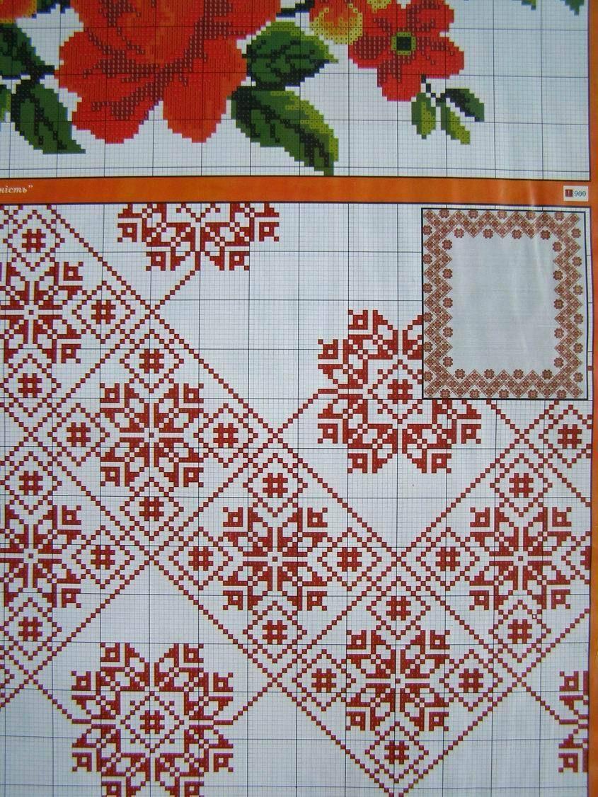 Uz 7 Cross Stitch Ukrainian Embroidery Flower Patterns Tablecloth Pillow Napkin Embroidery Flowers Pattern Cross Stitch Embroidery Embroidery Stitches
