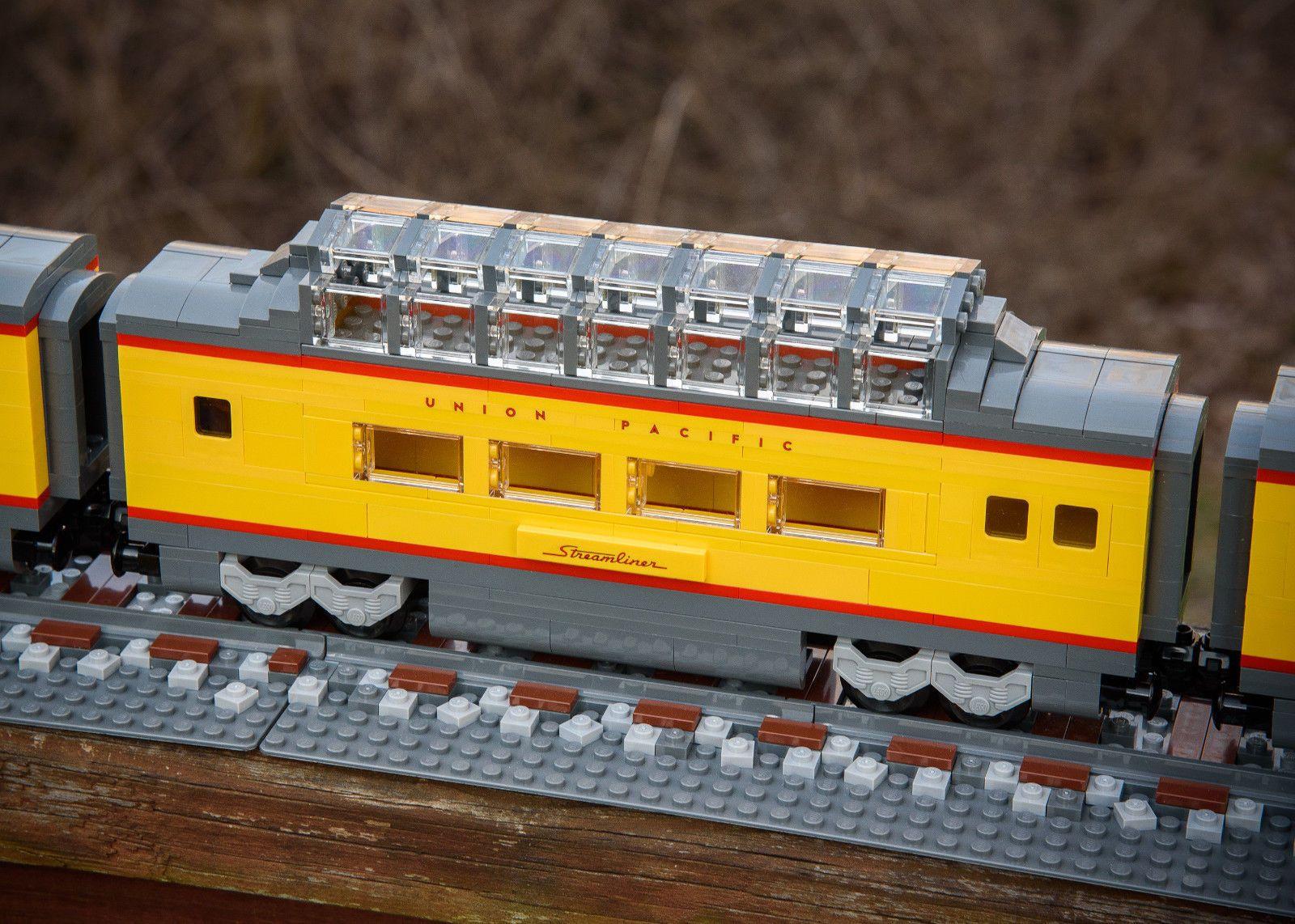lego custom train union pacific locomotive b unit and passenger
