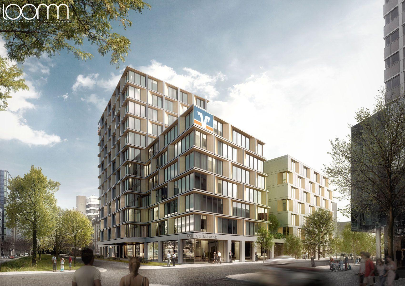 Architektur Freiburg architektur illustration in 3d für kresings architekten für einen