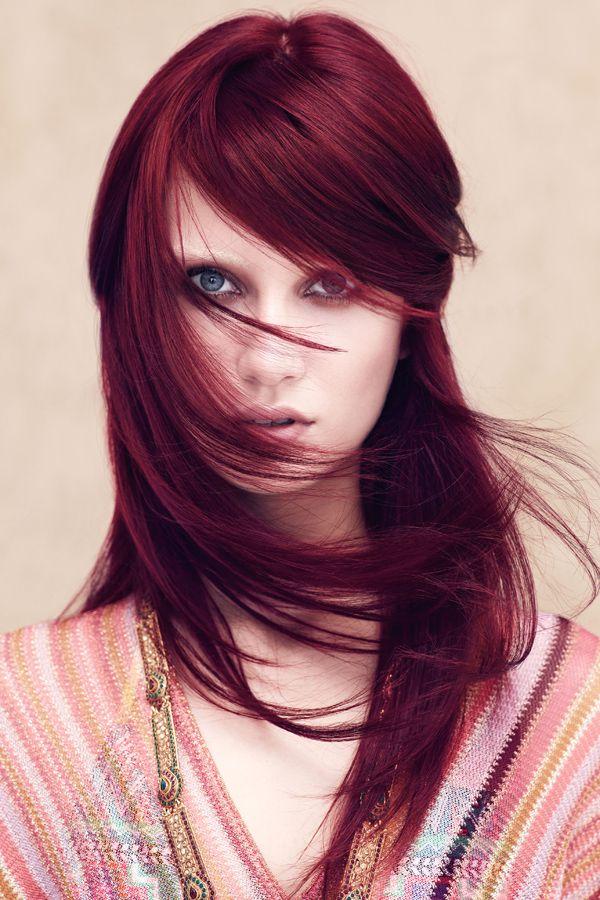 Haarfarben 2016 Hairinspiration Dunkelrotes Haar Haarschnitt