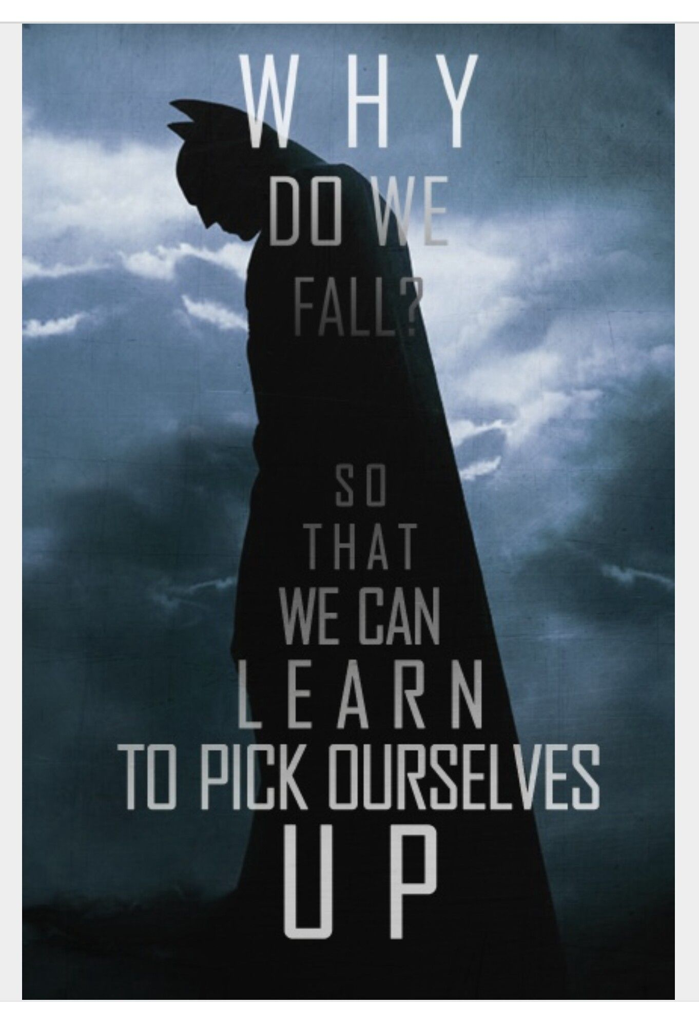 Batman Why Do We Fall Wallpaper Pin By James Choo On Batman Batman Quotes Famous Film