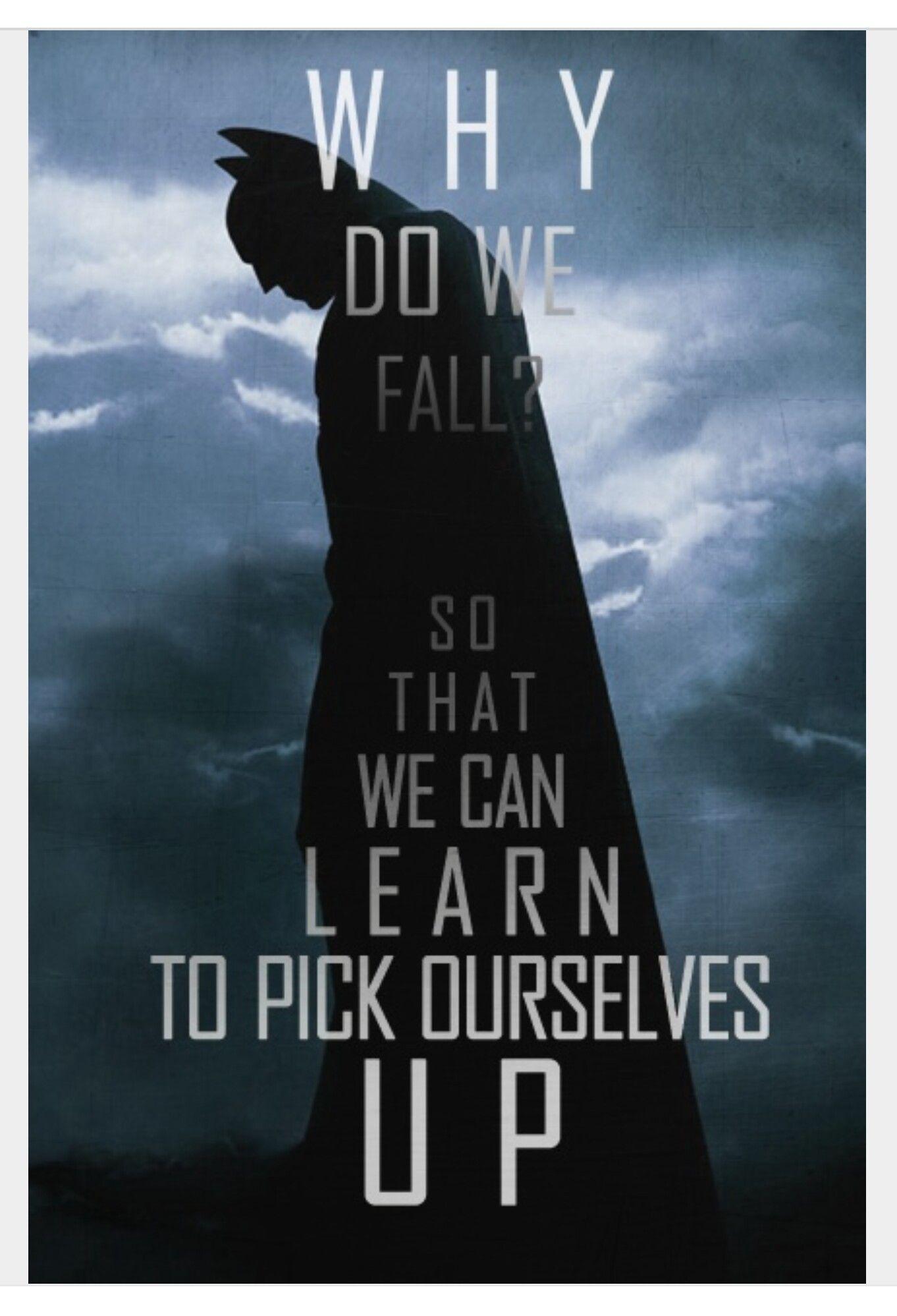 Why Do We Fall Bruce Wallpaper Pin By James Choo On Batman Pinterest Batman Batman