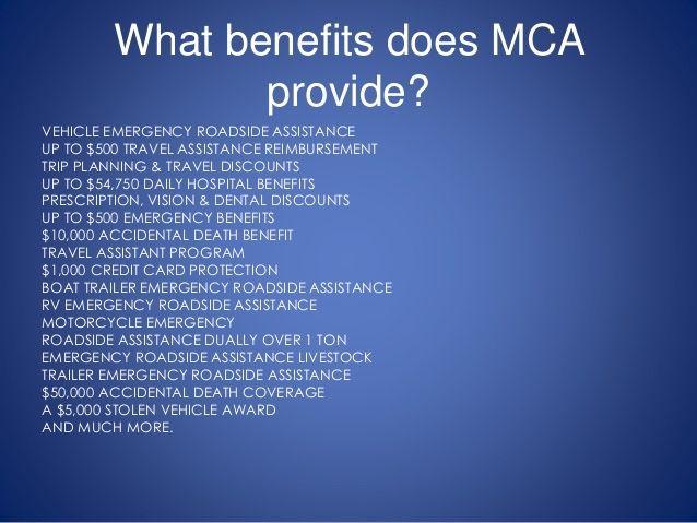 Benefits Mca Dental Discounts Credit Card Protection Trip
