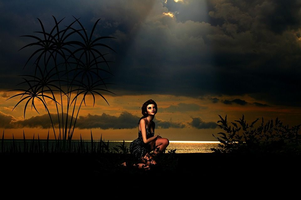 Ilustração gratis: Menina, Mulher, Praia, Romântico - Imagem gratis no Pixabay - 1675857