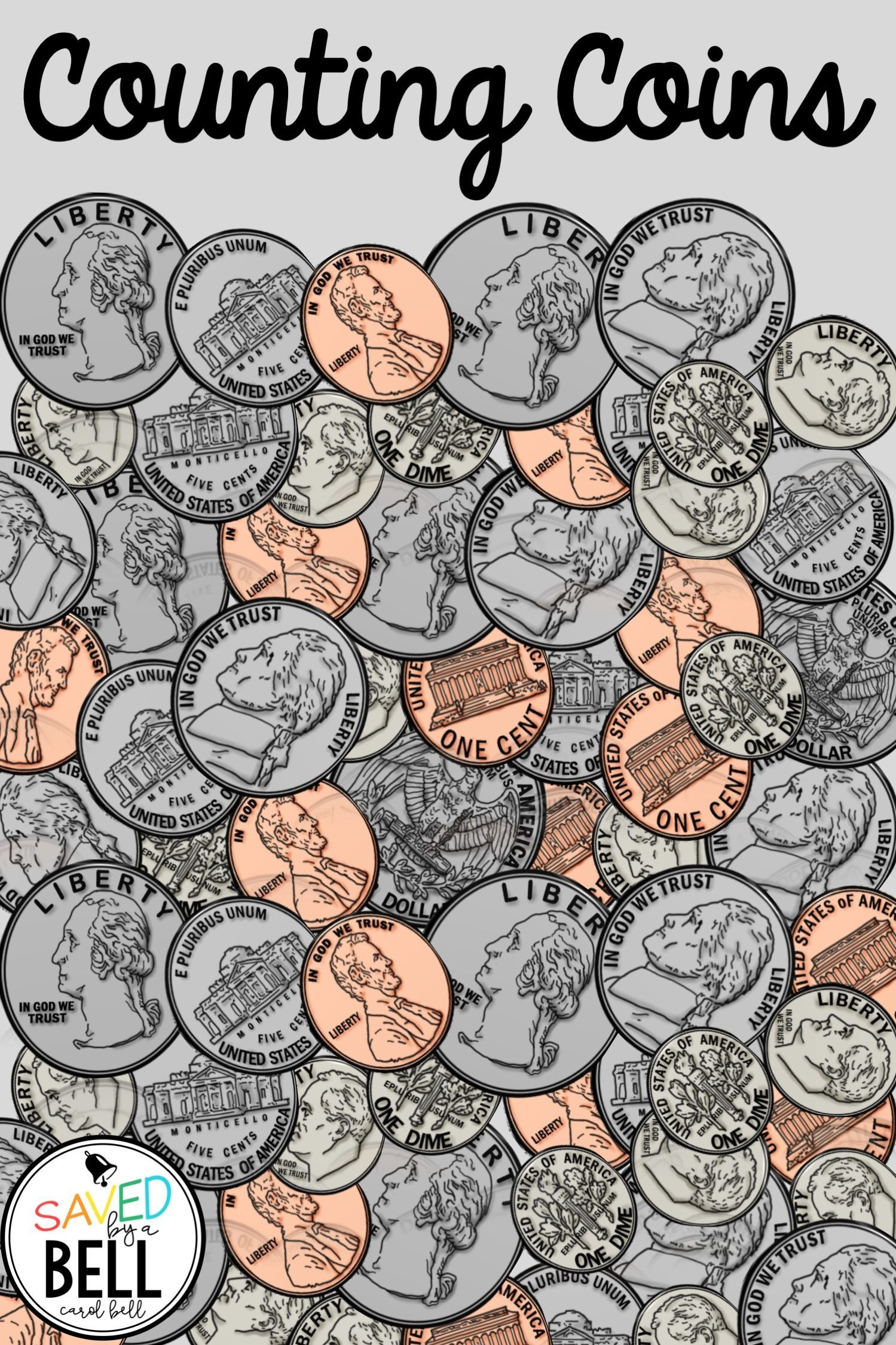 Counting Coins Worksheets And Task Card Bundle Distance