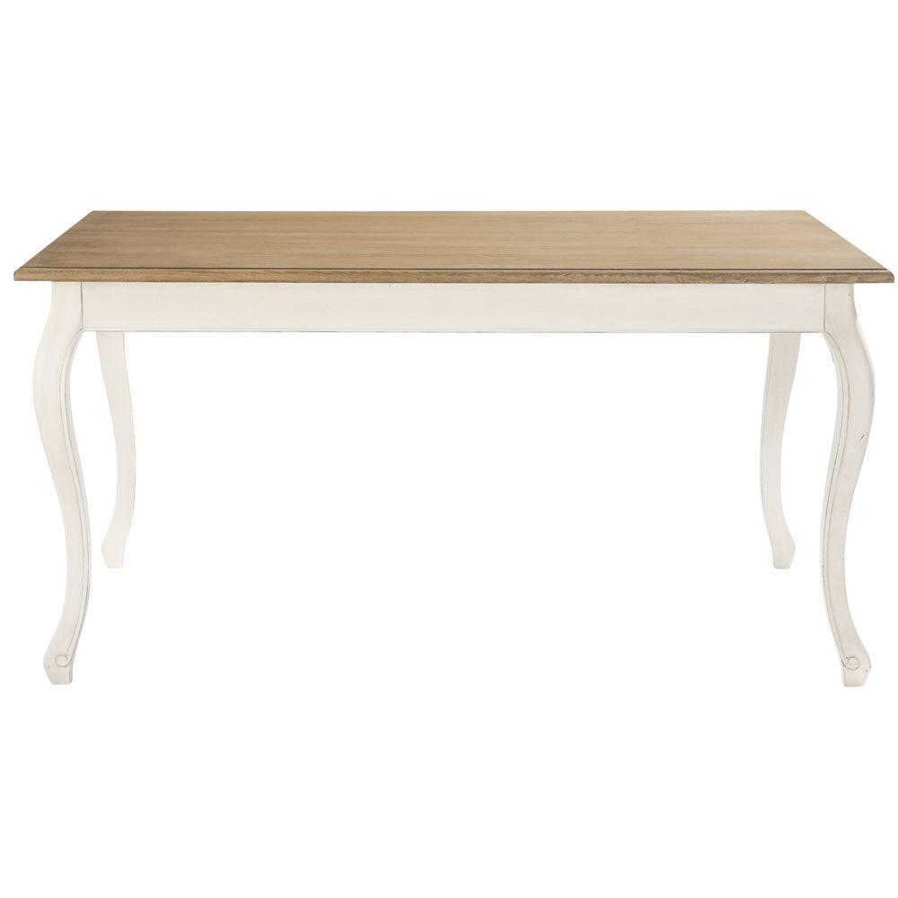 Table à manger crème L160   Manger, En bois et Maison du monde