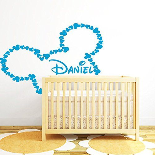 Mickey Mouse Name Wall Decal Vinyl Sticker Decals Custom Name Decals ...