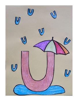 Letter u cutpaste craft template u is for umbrella letter letter u cutpaste craft template u is for umbrella spiritdancerdesigns Choice Image