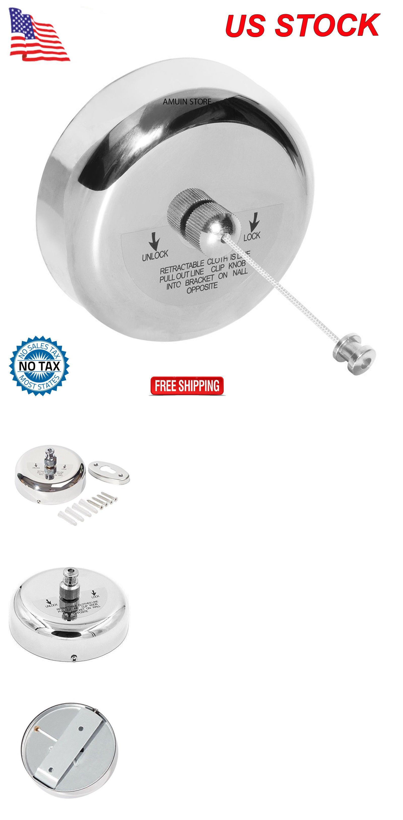 . Clotheslines and Laundry Hangers 81241  Retractable Clothesline