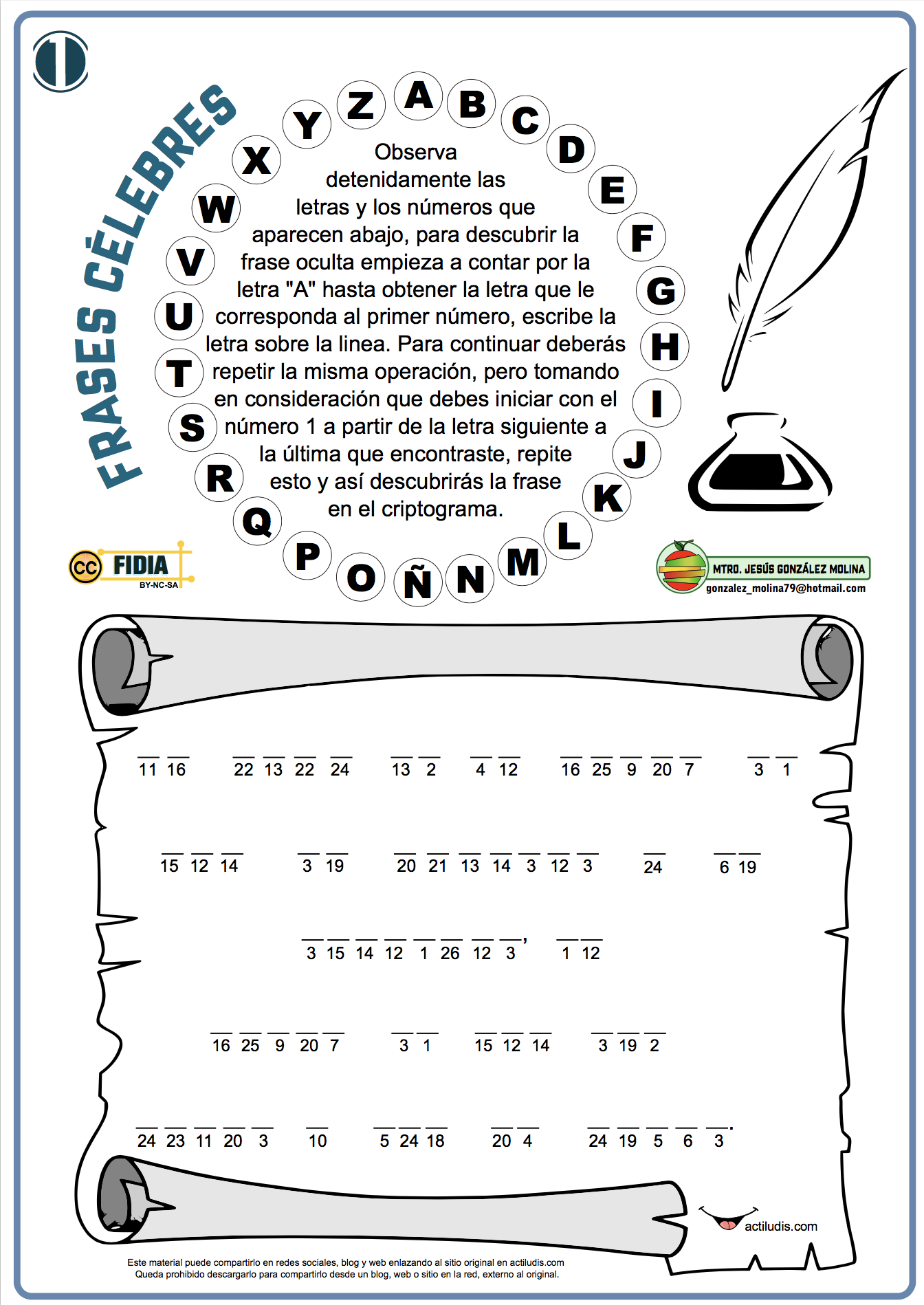 Criptograma Frases Celebres