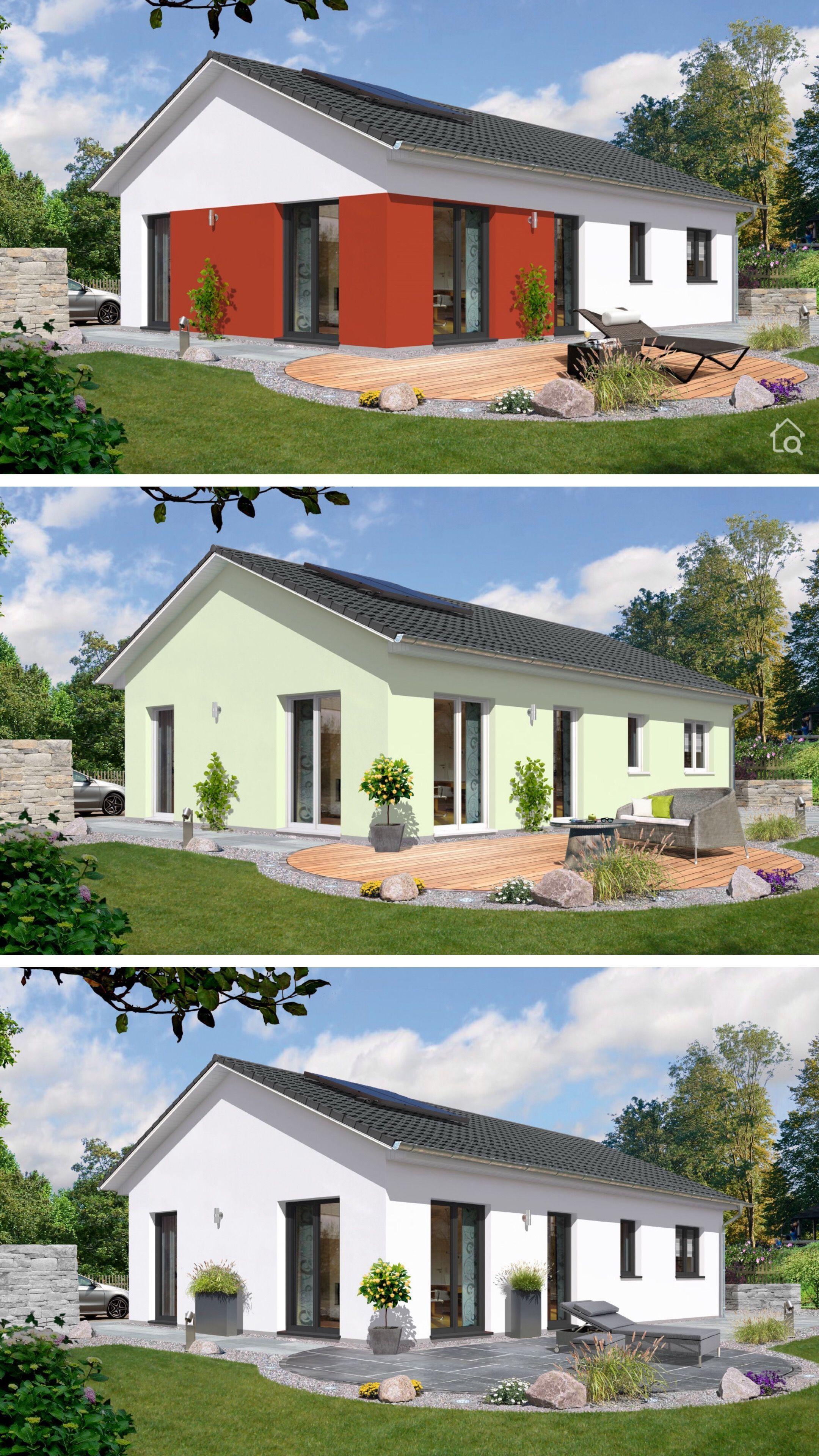 Bungalow mit Satteldach Architektur & Putz Fassade, 3