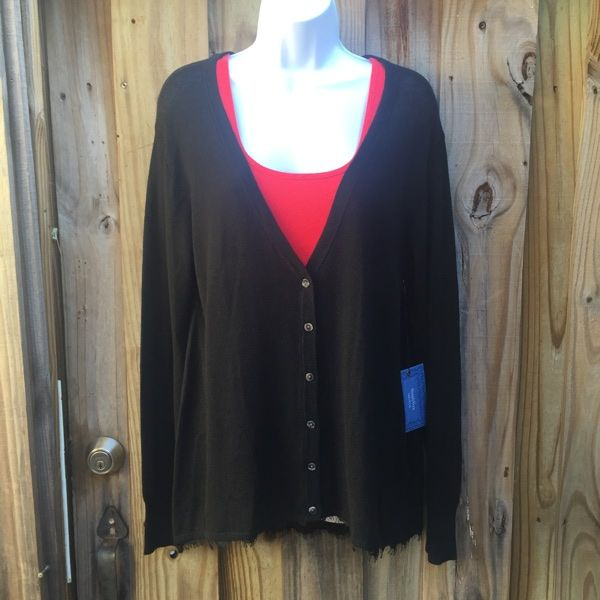 For Sale:  Vera Wang lace-trim cardigan for $10