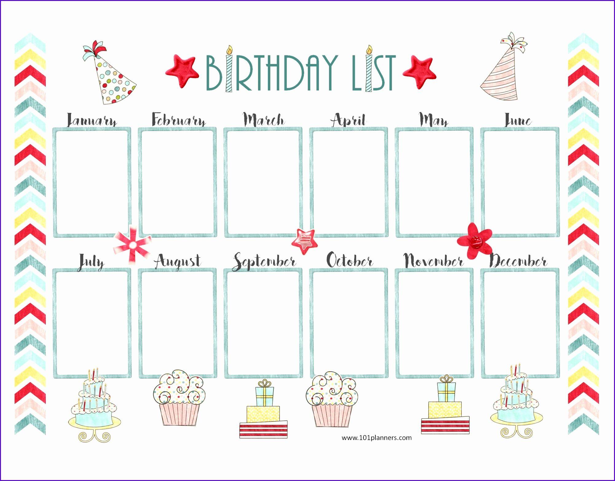 Sample Free Birthday Calendar Template Excel Gaklh Inspirational Free Birthday Calendar 2200170 Birthday Calendar Birthday Calendar Classroom Birthday Calender