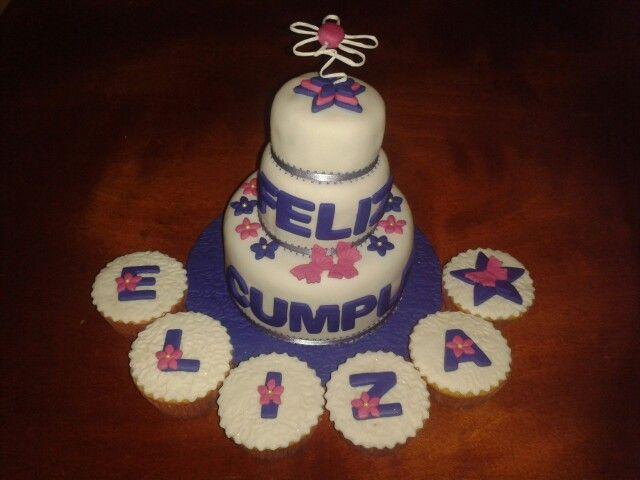 Mini Torta de Flores