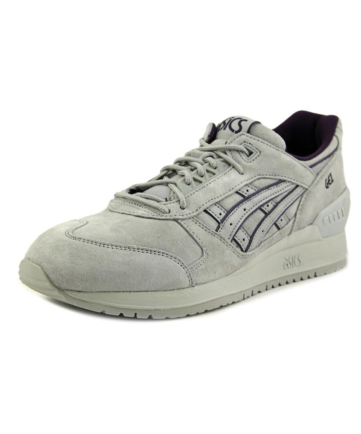 Latest Asics Gel Respector Round Toe Suede Sneakers Grey For Men Sale