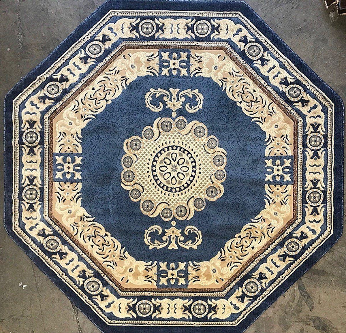 Octagon Persian Area Rug Light Blue Area Rug Decor Octagon Area Rugs Light Blue Area Rug