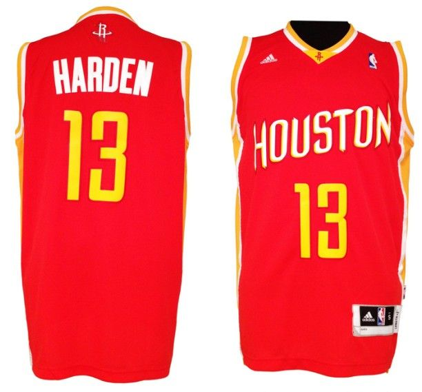 1e7f00dfc11d Adidas NBA Houston Rockets 13 James Harden New Revolution 30 Swingman Road  Red Jersey