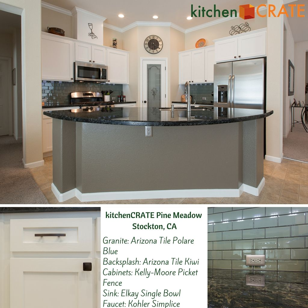 Kitchencrate Pine Meadow Circle In Stockton Ca Complete Kitchencrate Central Valley Blue Backsplash Kitchen Remodel Kitchen Renovation