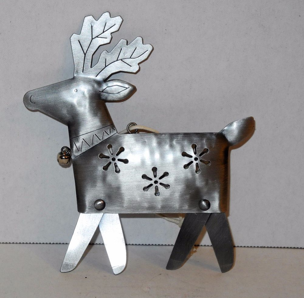 FREE SHIP Hallmark Metal Reindeer Christmas Tree Ornaments