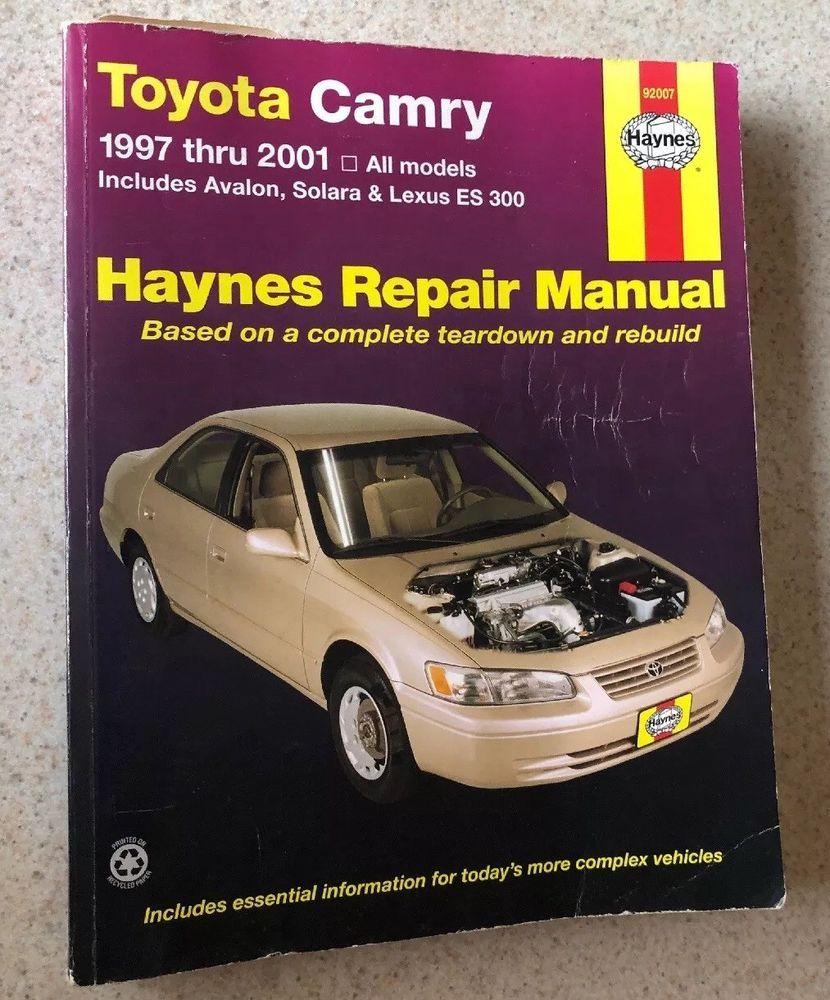 Pin On Haynes Repair Manual For 1997 2001 Toyota Avalon Camry Solara Lexus 92007